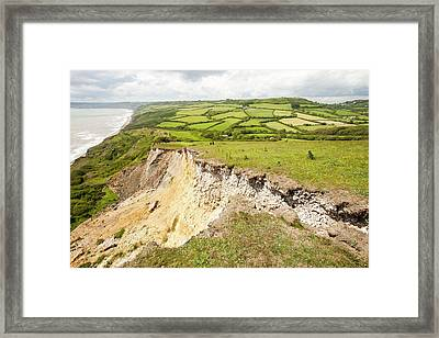 Tear Preceding Landslip Framed Print by Ashley Cooper