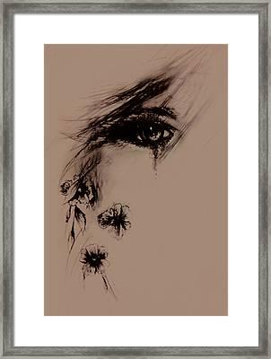 Tear Framed Print by Rachel Christine Nowicki