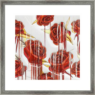 Tear-stained Roses Framed Print by Liane Wright