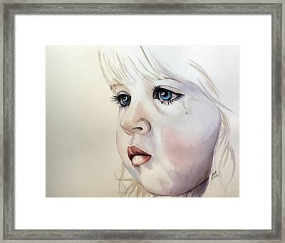 Tear Stains Framed Print