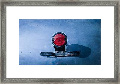 Teardrop Taillight Framed Print