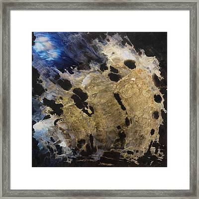 Tearing Up The Pieces Framed Print by Lia Melia