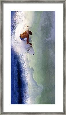 Tearing Up Trestles Framed Print by Ron Regalado