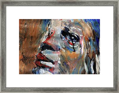 Tears As Black As Ink Framed Print