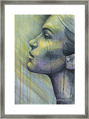 Tears In The Rain Colored Version Framed Print by Michael Volpicelli