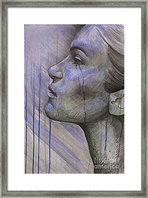 Tears In The Rain Framed Print by Michael Volpicelli