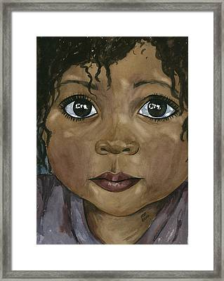 Ebony's Tears Framed Print