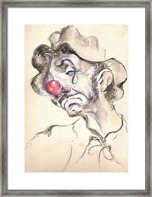 Tears Of A Clown Framed Print by Shan Ungar