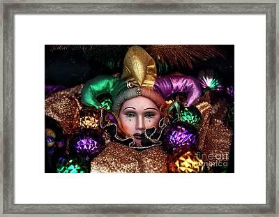 Tears Of A Jester Framed Print by John Rizzuto