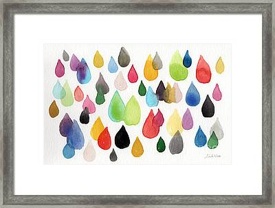 Tears Of An Artist Framed Print by Linda Woods
