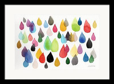 Rain Mixed Media Framed Prints