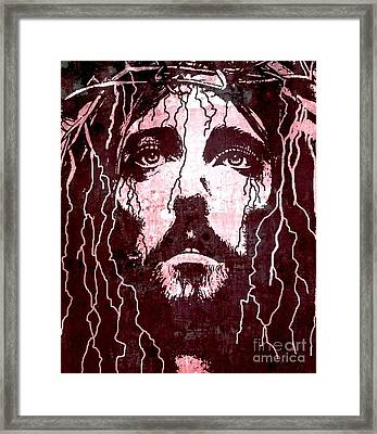 Tears Of Jesus Framed Print by Michael Grubb