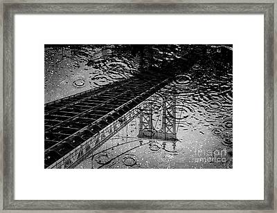 Tears Of New York Framed Print by Az Jackson
