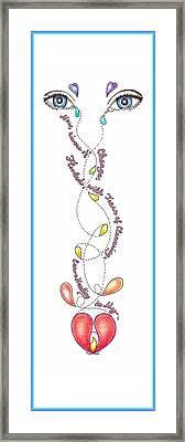 Tears To Healing Framed Print by Melinda DeMent