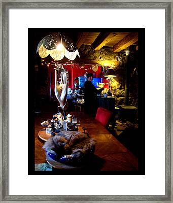 Framed Print featuring the photograph Teatime In The Lodge by Susanne Still