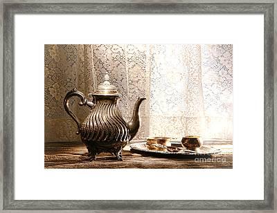 Teatime Framed Print by Olivier Le Queinec