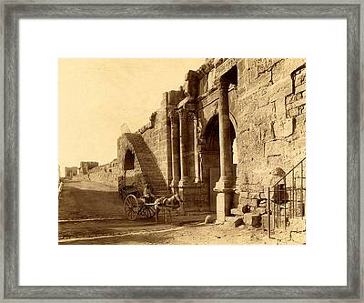 Tebessa, Arch Of Caracalla And The Walls Of The Byzantine Framed Print by Litz Collection