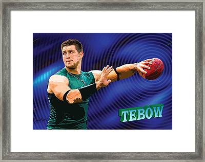 Tebow Framed Print by John Keaton