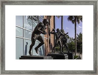 Tebow Spurrier And Wuerffel Uf Heisman Winners Framed Print by Lynn Palmer
