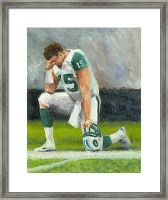 Tebowing Framed Print by Joe Maracic