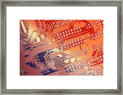 Tech Abstract Framed Print