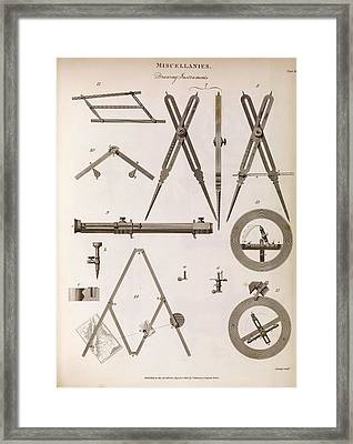 Technical Drawing Devices Framed Print