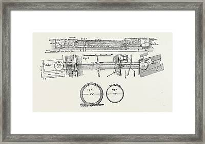 Technical Drawing Of The Tunnel Under The River Clyde Framed Print
