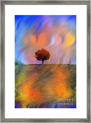 Technicolor Park-colorful Summer Framed Print by Linda Matlow