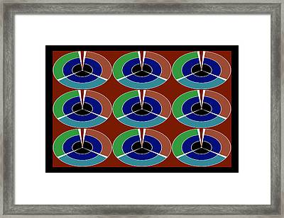 Techno Movement Disc Display Pattern Round Circles Layers 3d Graphic Digital Art Collage By Navinjos Framed Print by Navin Joshi