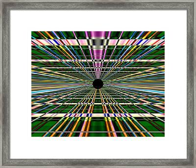 Technological Black Hole Framed Print by Jordan Judd