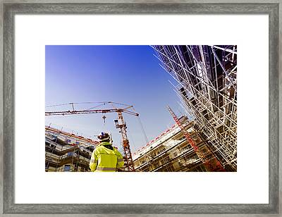Technology And Construction Instrument Framed Print