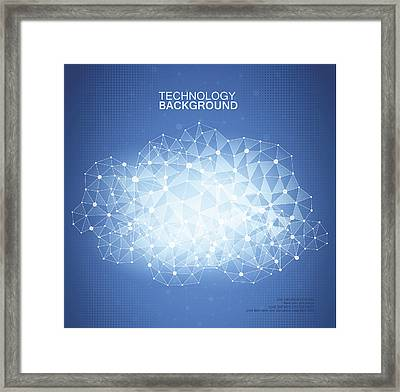 Technology Background Framed Print by A-r-t-i-s-t