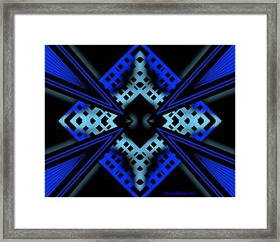 Framed Print featuring the digital art Technology Growth by Brian Johnson