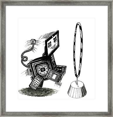 Technology Is Our Friend Framed Print by Richie Montgomery