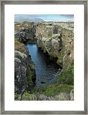 Tectonic Plate Boundary Framed Print by Tony Craddock
