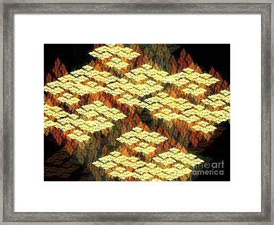 Tectonics Framed Print by Kim Sy Ok