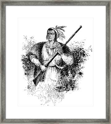 Tecumseh, Shawnee Indian Leader Framed Print by British Library