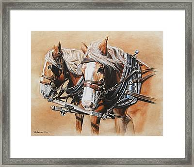 Ted And Tom Framed Print by Kim Lockman