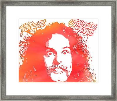 Ted Nugent Cat Scratch Fever Framed Print by Dan Sproul