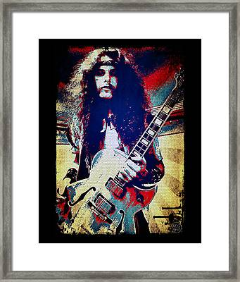 Ted Nugent - Red White And Blue Framed Print