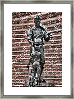 Ted Williams Statue - Boston Framed Print by Joann Vitali