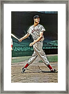 Ted Williams Painting Framed Print by Florian Rodarte