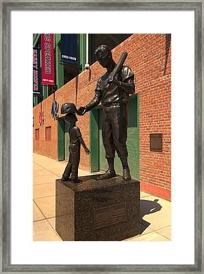 Ted Williams Framed Print by Paul Mangold