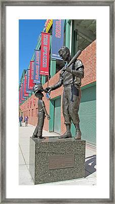 Ted Williams Statue Framed Print