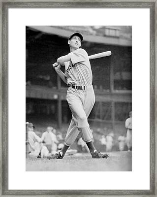 Ted Williams Swing Framed Print by Gianfranco Weiss