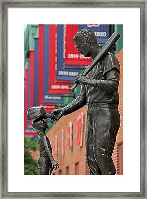 Ted Williams Tribute Framed Print by Juergen Roth