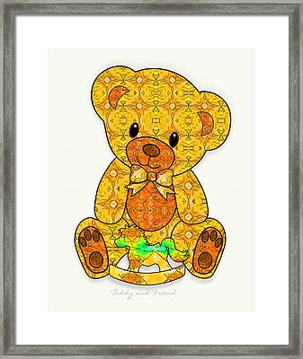 Teddy And Friend Framed Print by Gayle Odsather