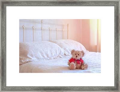 Teddy Bear Framed Print by Amanda Elwell