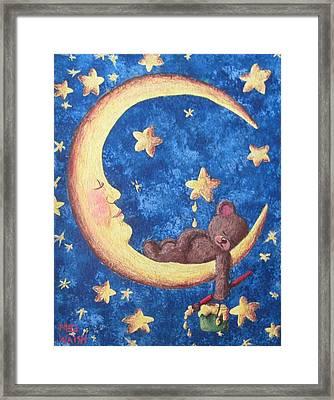 Teddy Bear Dreams Framed Print by Megan Walsh