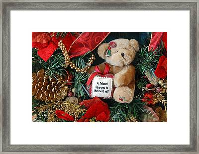 Teddy Bear Friends Framed Print by Kenny Francis